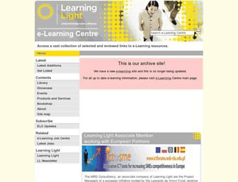 Main page screenshot of archive.e-learningcentre.co.uk
