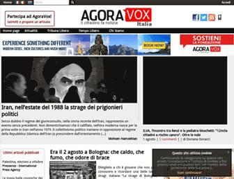 Main page screenshot of agoravox.it