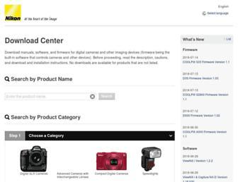 downloadcenter.nikonimglib.com screenshot