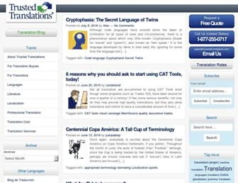 translation-blog.trustedtranslations.com screenshot