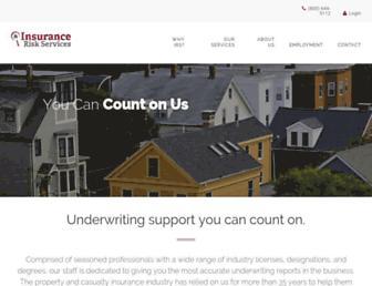 insuranceriskservices.com screenshot