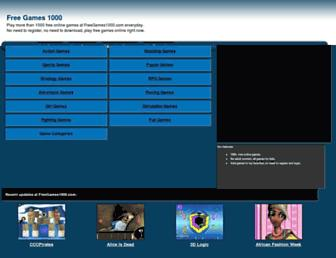 freegames1000.com screenshot