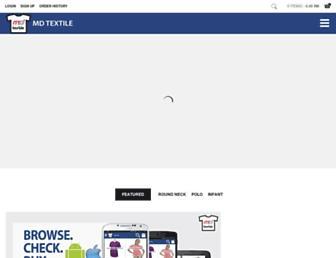 mdtextile.com screenshot