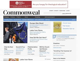 Main page screenshot of commonwealmagazine.org