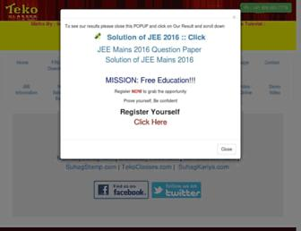 tekoclasses.com screenshot