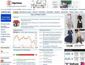 Main page screenshot of mfd.ru