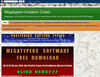 megatypers-invitation-codes.blogspot.com screenshot