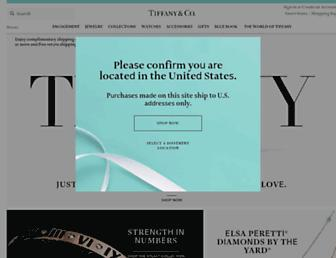 tiffany.com screenshot