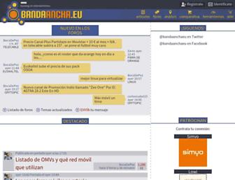 Main page screenshot of bandaancha.eu