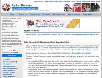 Main page screenshot of havasu.k12.az.us