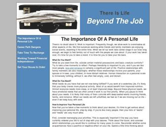 Main page screenshot of beyondthejob.org