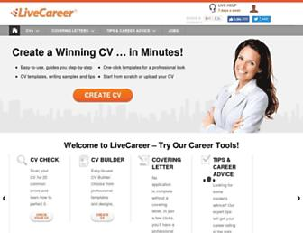 livecareer.co.uk screenshot