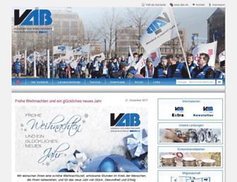 Main page screenshot of vab-gewerkschaft.de