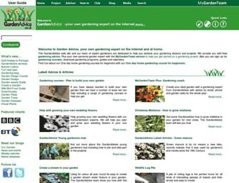 Main page screenshot of gardenadvice.co.uk