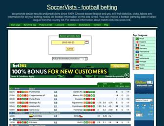 soccervista.com screenshot
