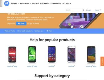 support.motorola.com screenshot