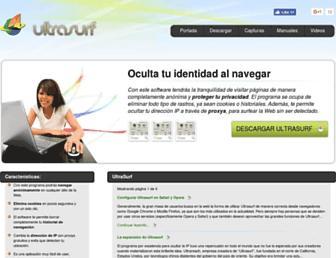 ultrasurf.es screenshot