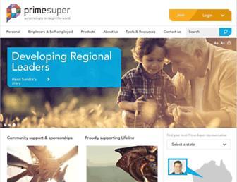 primesuper.com.au screenshot