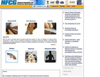 Main page screenshot of nfcgindia.org
