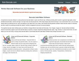 bulkbarcode.com screenshot