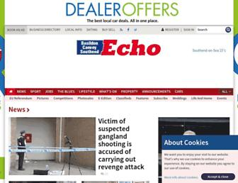 Main page screenshot of echo-news.co.uk