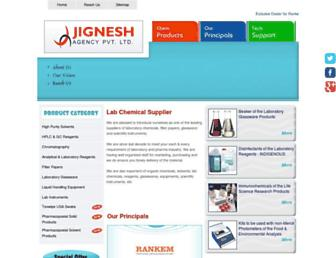 Main page screenshot of labchemicals.in