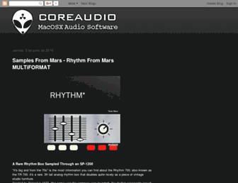 coreaudio.blogspot.com screenshot