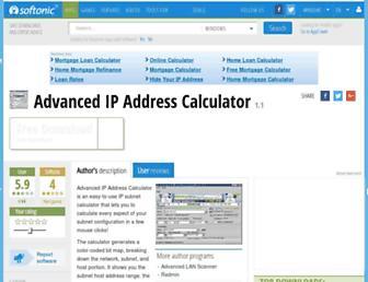 advanced-ip-address-calculator.en.softonic.com screenshot