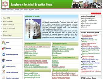 bteb.gov.bd screenshot