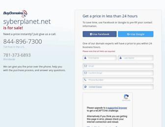 Main page screenshot of blog.syberplanet.net