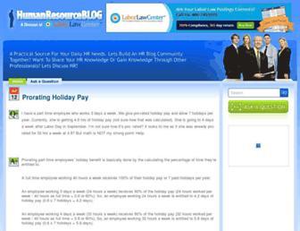 humanresourceblog.com screenshot