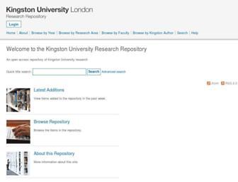 eprints.kingston.ac.uk screenshot