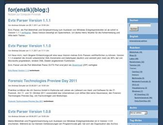 computer.forensikblog.de screenshot