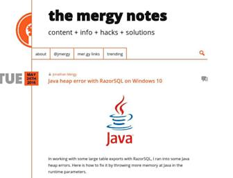 mergy.org screenshot