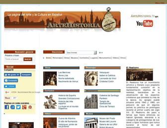artehistoria.com screenshot
