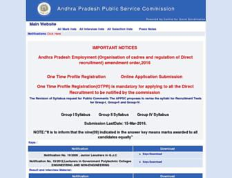 Thumbshot of Apspsc.gov.in