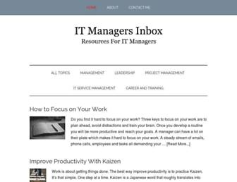 itmanagersinbox.com screenshot