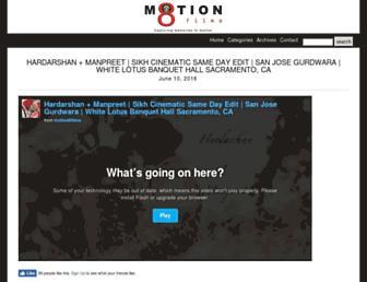 motion8films.com screenshot