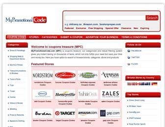 mypromotionalcode.com screenshot