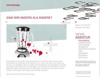 Main page screenshot of steindesign.de
