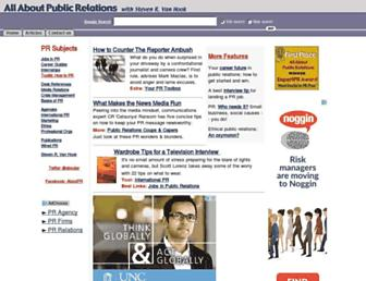 Main page screenshot of aboutpublicrelations.net
