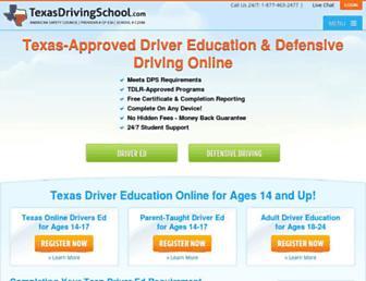 texasdrivingschool.com screenshot