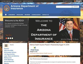 insurance.az.gov screenshot