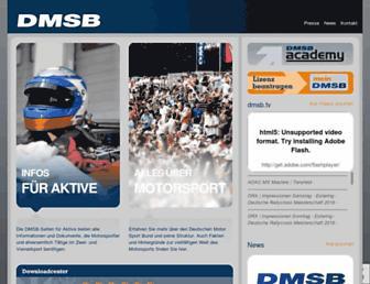 Main page screenshot of dmsb.de