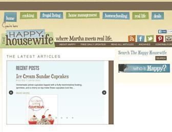 thehappyhousewife.com screenshot