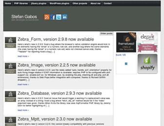 Main page screenshot of stefangabos.ro