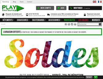 playskateshop.com screenshot