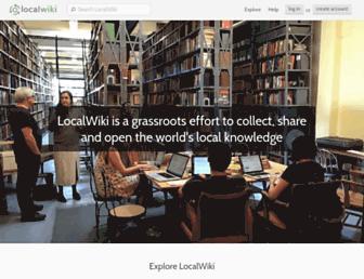 localwiki.org screenshot