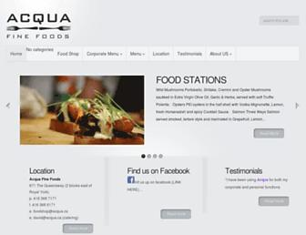 Main page screenshot of acqua.ca