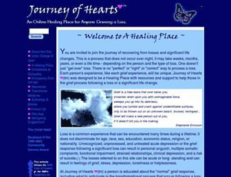 Main page screenshot of journeyofhearts.org
